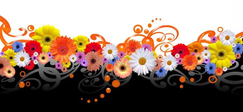 Blommalinje royaltyfri illustrationer