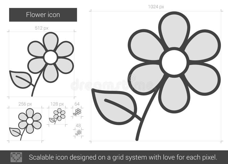 Blommalinje symbol stock illustrationer