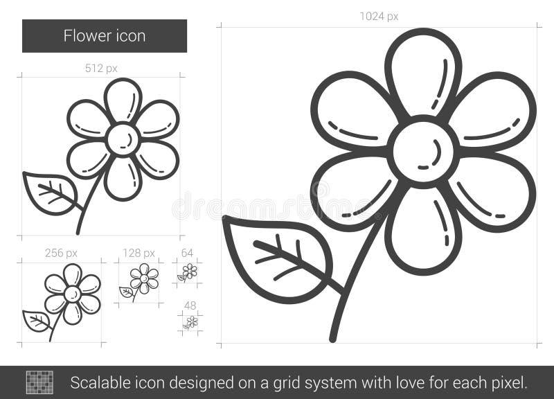 Blommalinje symbol vektor illustrationer