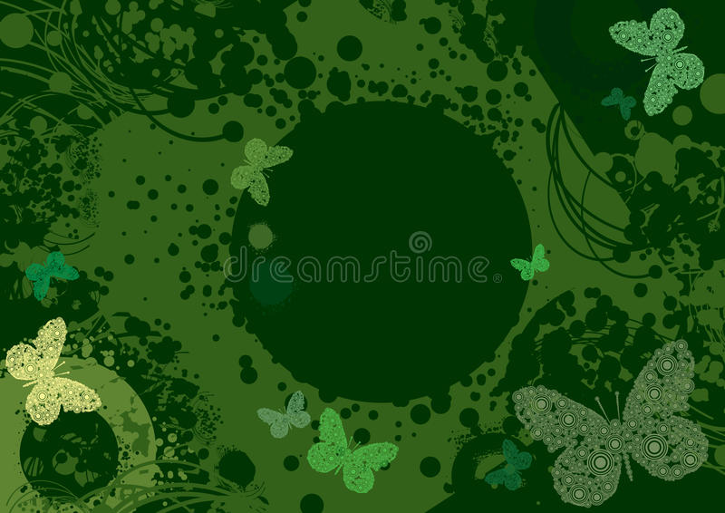 blommalinjer wavy färgstänk royaltyfri bild
