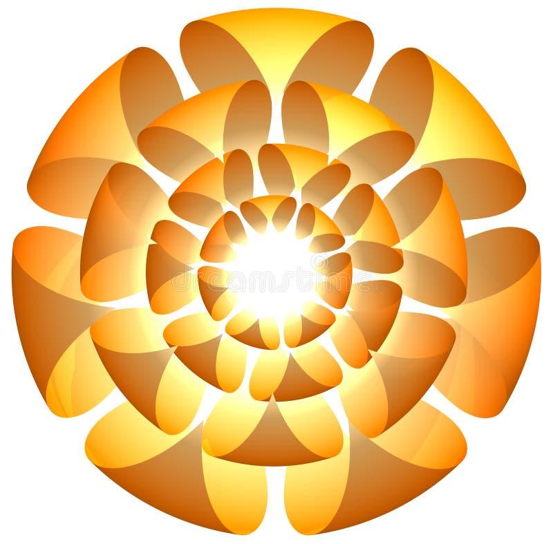 blommalogo royaltyfri illustrationer