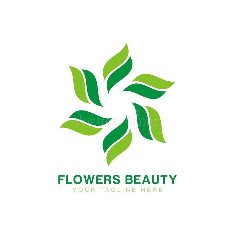 BlommaLogo Design inspiration modern mall för logo stock illustrationer