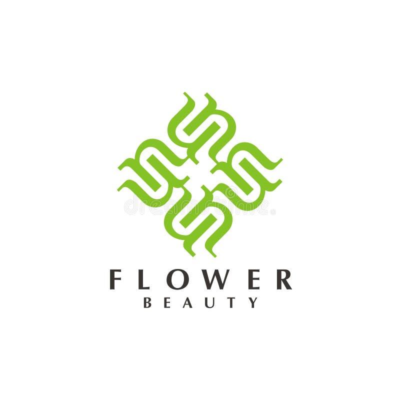BlommaLogo Design inspiration modern mall för logo vektor illustrationer