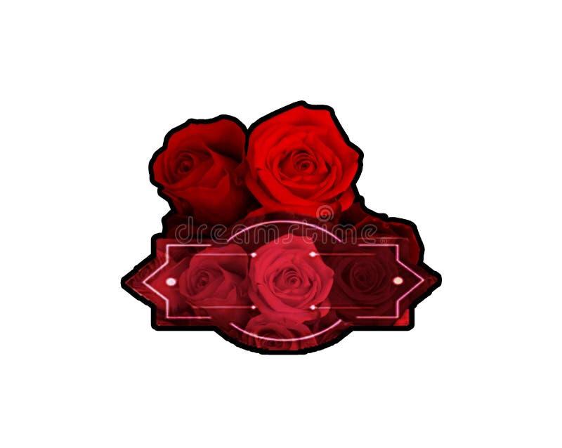 Blommalogoen royaltyfri foto