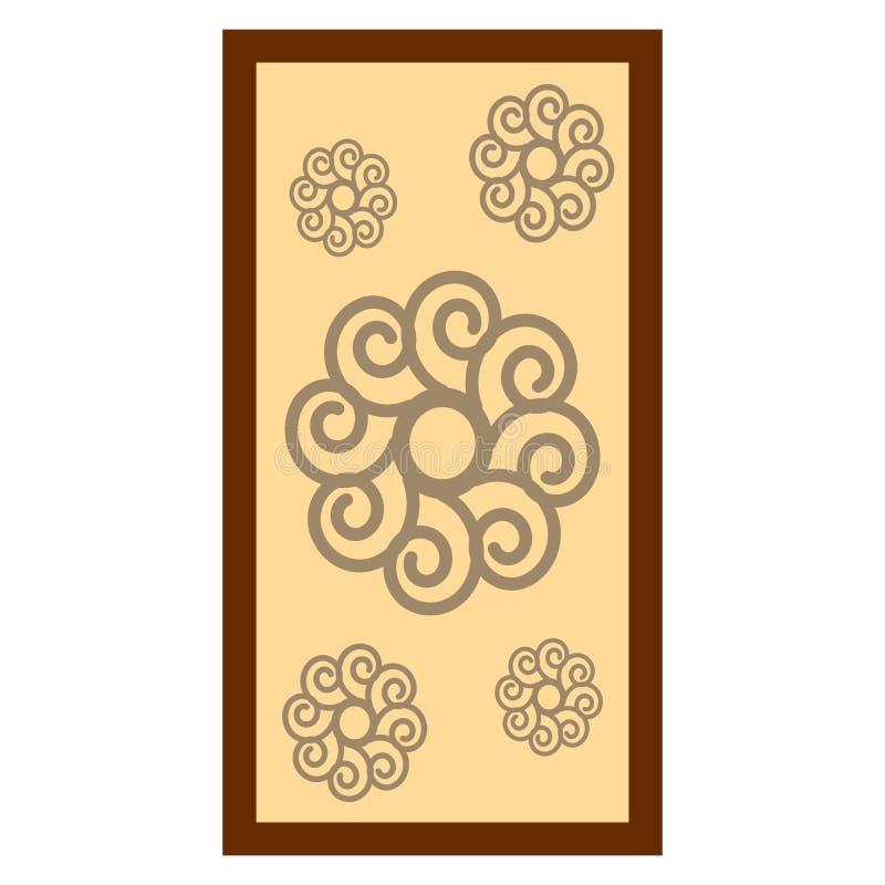 Blommamålning med träramen royaltyfri illustrationer