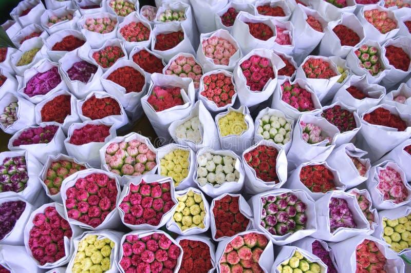 Blommamarknad, Mong Kok royaltyfria foton