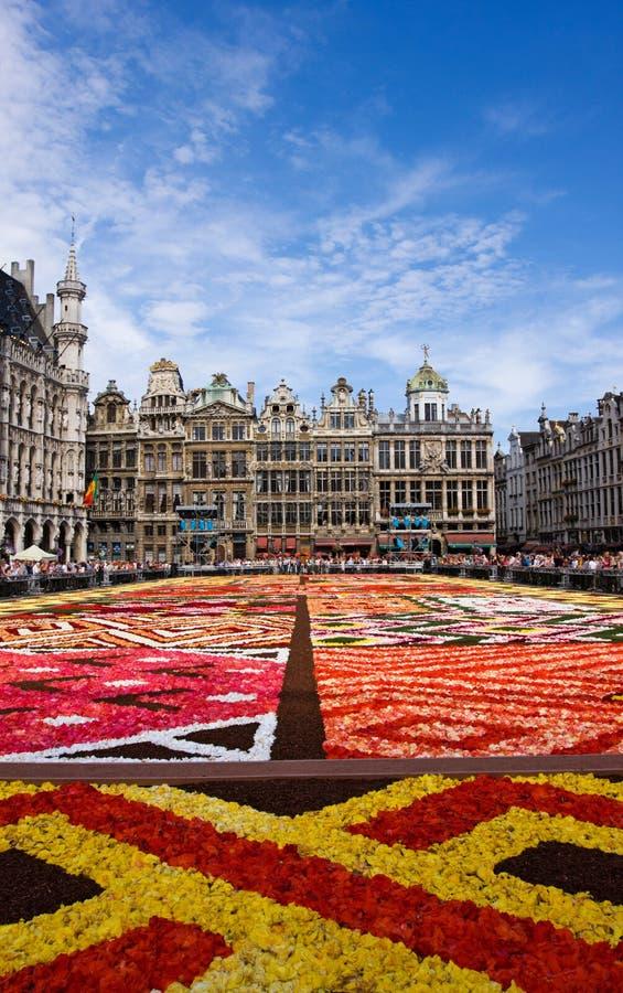 Blommamatta i Bryssel arkivbilder