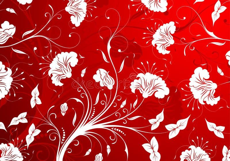 blommamodell stock illustrationer