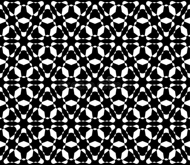 Blommamodellen, smyckar triangulärt galler vektor illustrationer