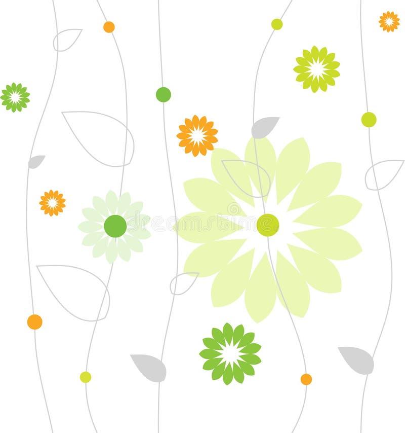 blommamodellfjäder stock illustrationer