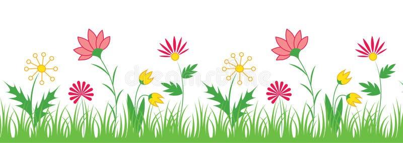 Blomman gränsar vektor illustrationer