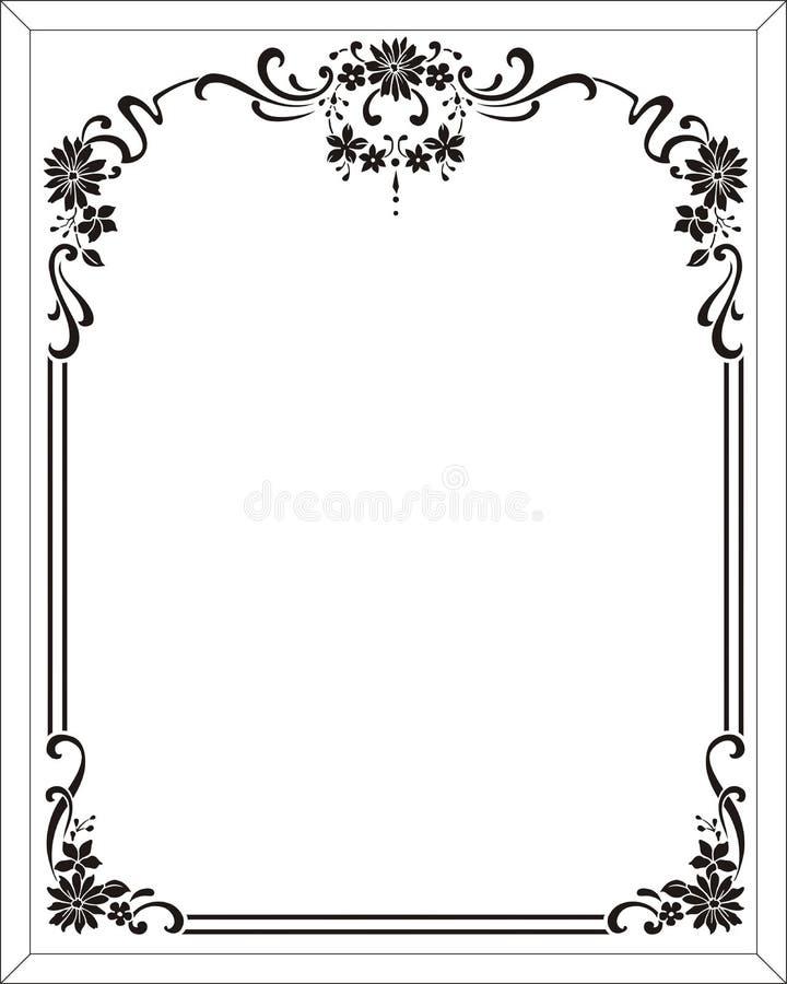 blomman inramar vektor illustrationer