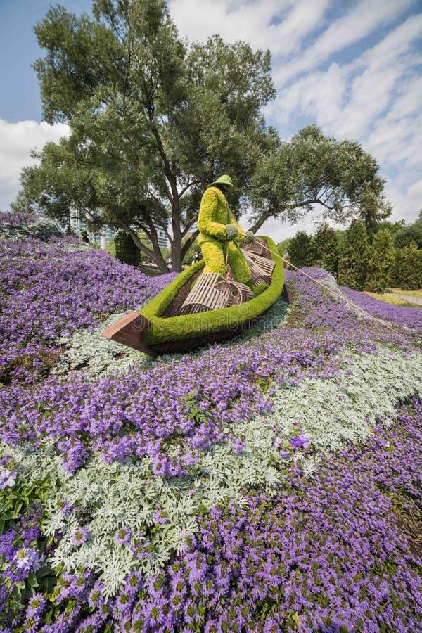 Blomman parkerar in royaltyfri bild
