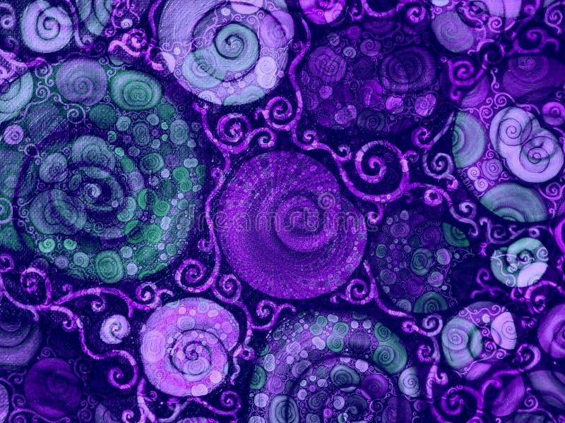 blomman shells texturvines fotografering för bildbyråer
