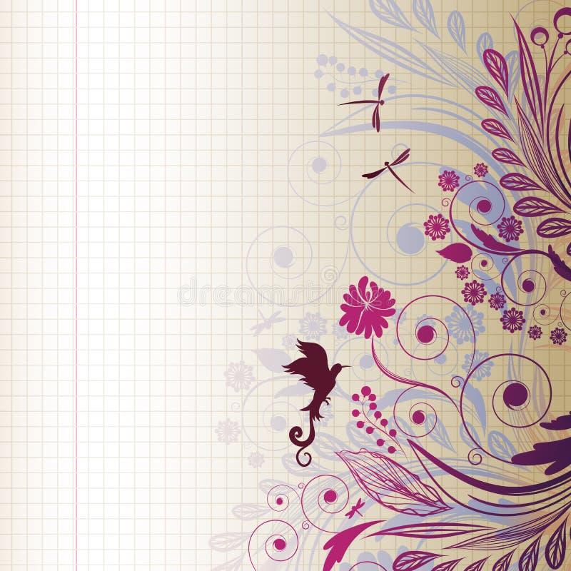 blomman skissar stock illustrationer