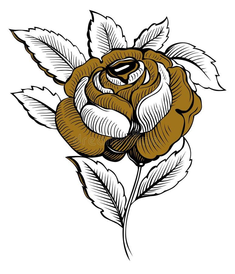 blomman steg royaltyfri illustrationer