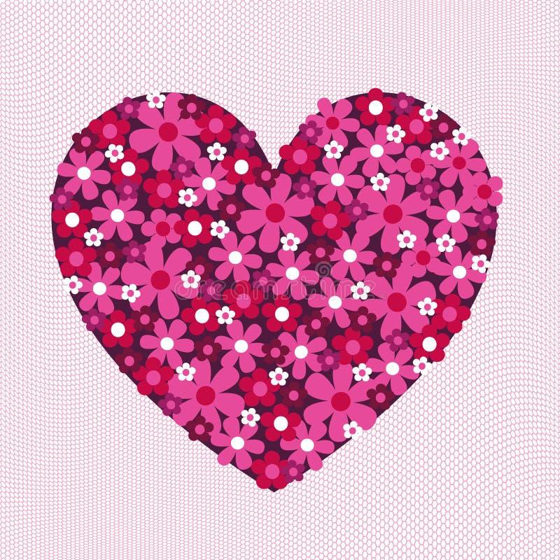 Blomman Valentine Heart Pattern snör åt på royaltyfri illustrationer