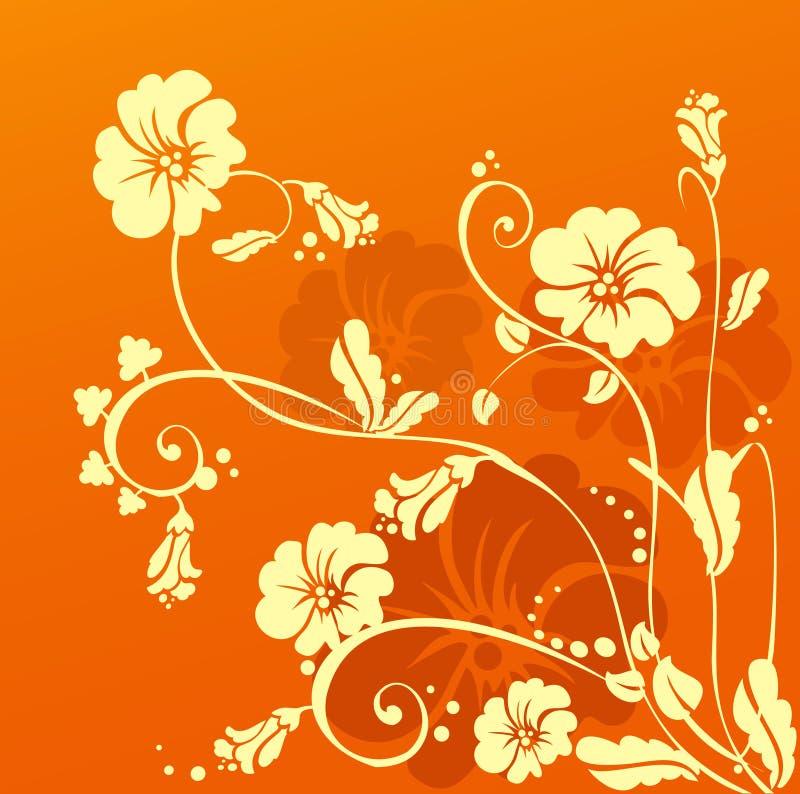 blommaorange vektor illustrationer