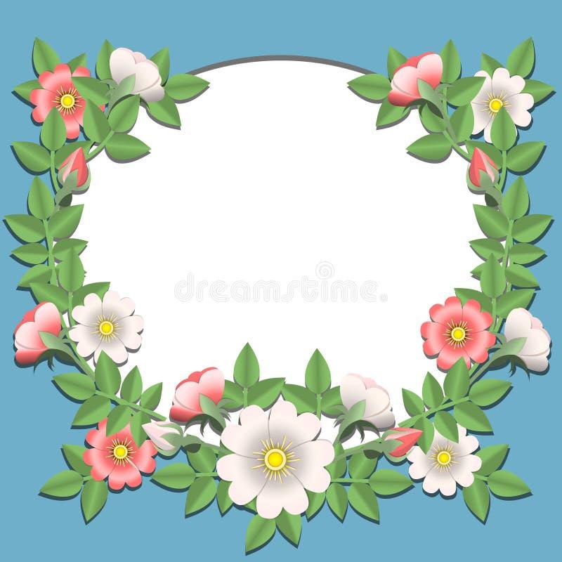 blommapapper vektor illustrationer
