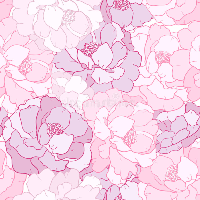 Blommapetal stock illustrationer