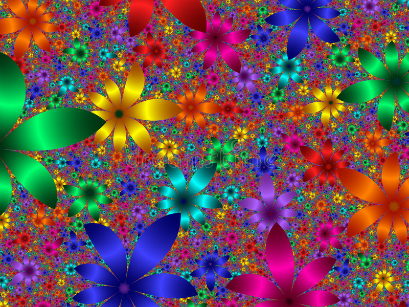 blommapetals vektor illustrationer