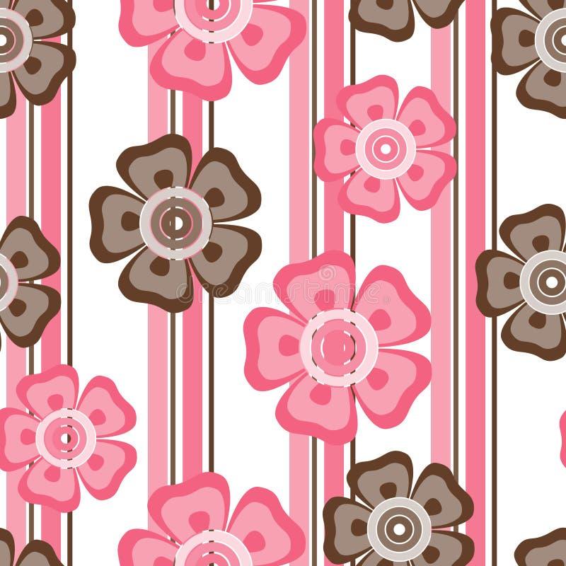 blommapink royaltyfri illustrationer