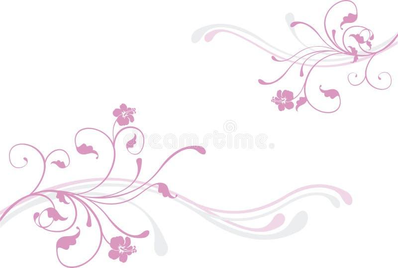blommapink vektor illustrationer