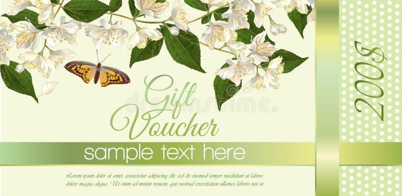 Blommapresentkort stock illustrationer