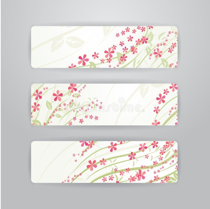 Blommar baner royaltyfri illustrationer