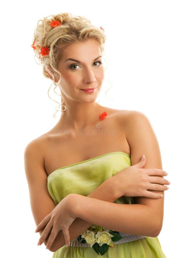 blommar den nya fjäderkvinnan arkivfoto