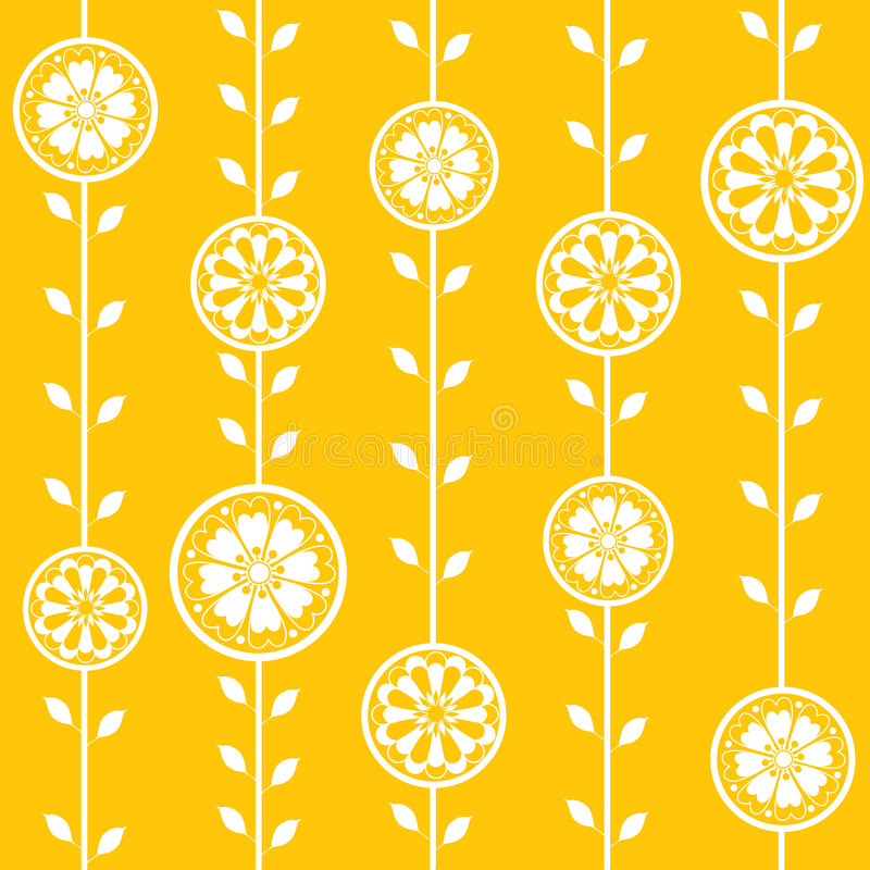 blommar den seamless fjäderwallpaperen stock illustrationer