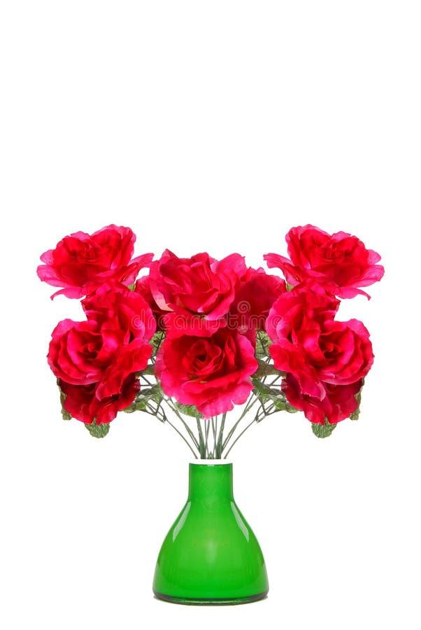 blommar den silk vasen fotografering för bildbyråer