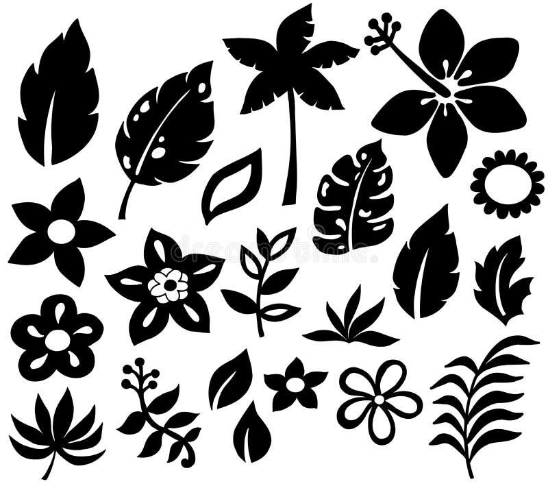 blommar den tropiska vektorn för illustrationen stock illustrationer