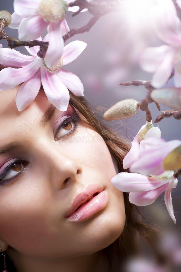 blommar flickabrunnsorten royaltyfria foton