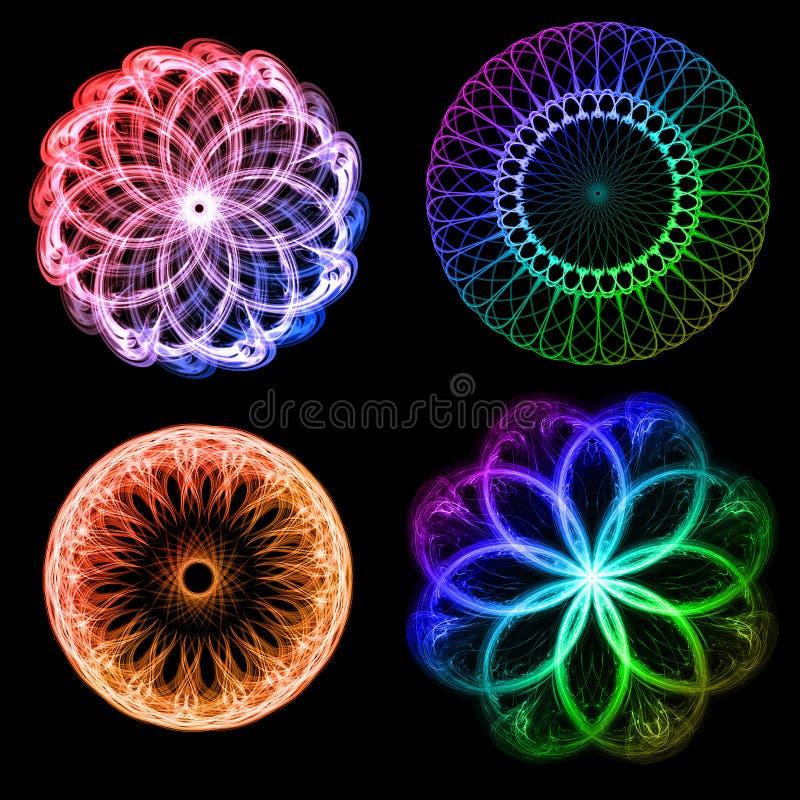 blommar fractals vektor illustrationer