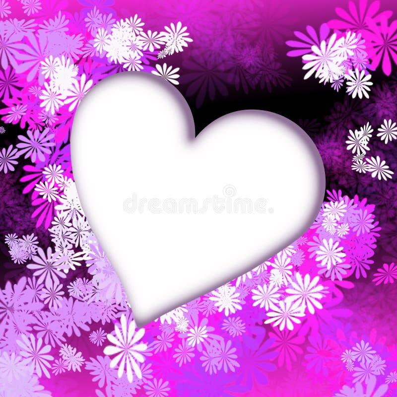 blommar hjärtapink royaltyfri illustrationer