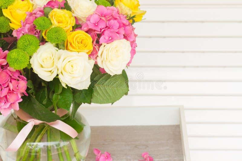 blommar hortensiapink fotografering för bildbyråer