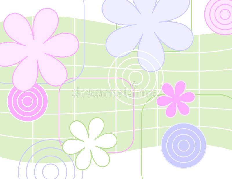 blommar jazzy vektor illustrationer