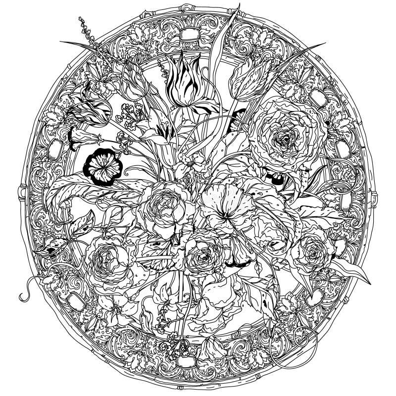 blommar livstid fortfarande royaltyfri illustrationer