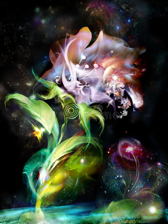 blommar mysticen vektor illustrationer