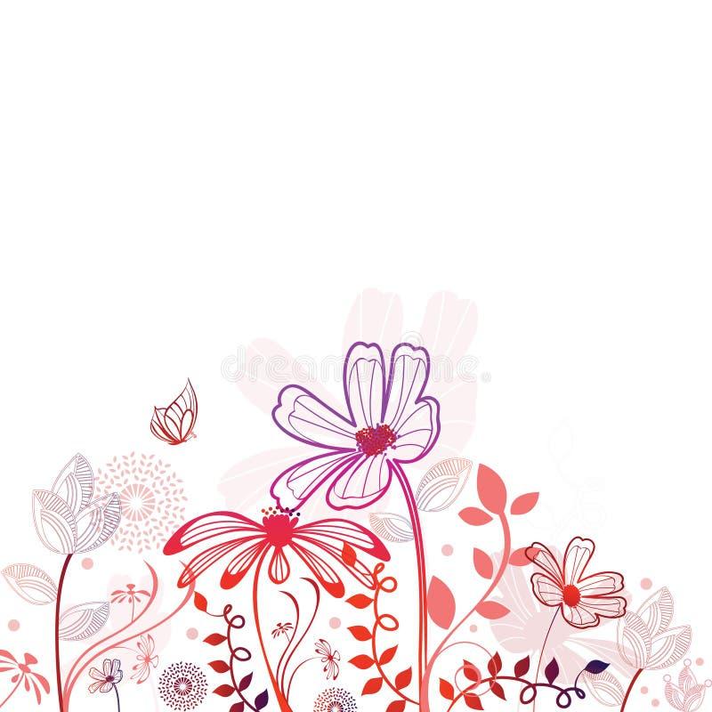 blommar nätt royaltyfri illustrationer