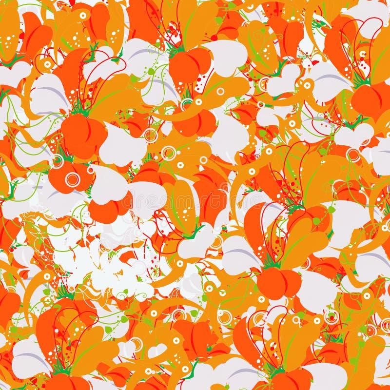 blommar orange red royaltyfri foto