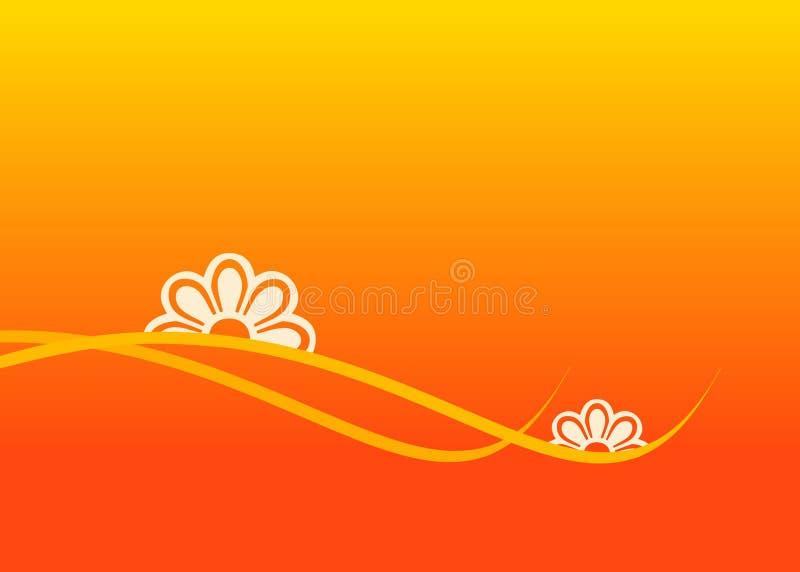 blommar orangen stock illustrationer