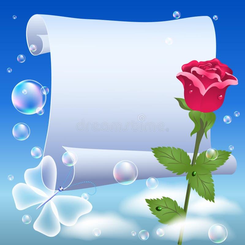 blommar parchment stock illustrationer
