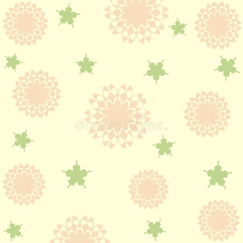 blommar pastell royaltyfri illustrationer