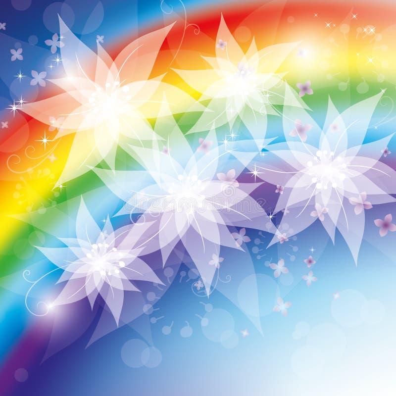 blommar regnbågen vektor illustrationer