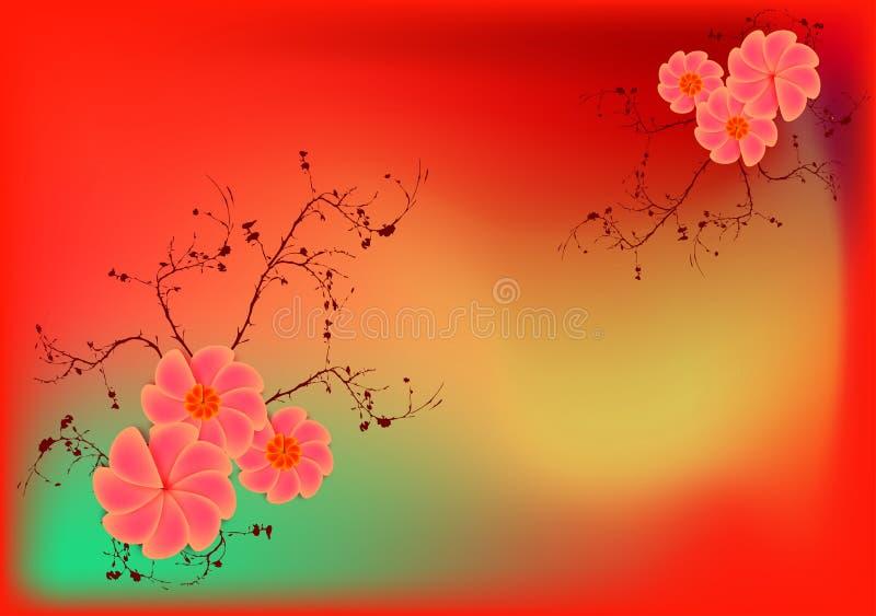 blommar retro royaltyfri illustrationer