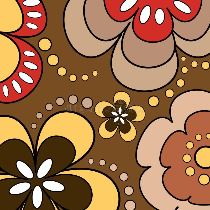 Download Blommar retro vektor illustrationer. Illustration av bild - 511054