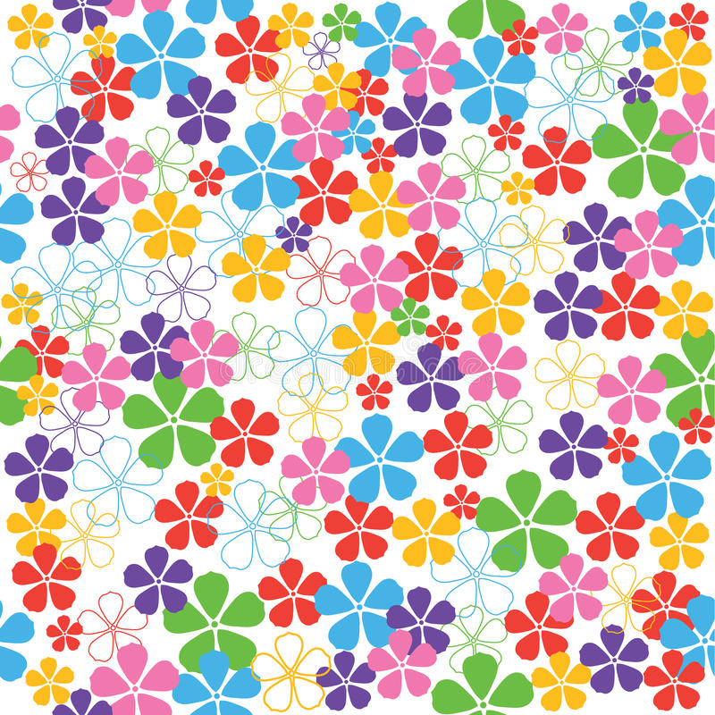 blommar seamless royaltyfri illustrationer