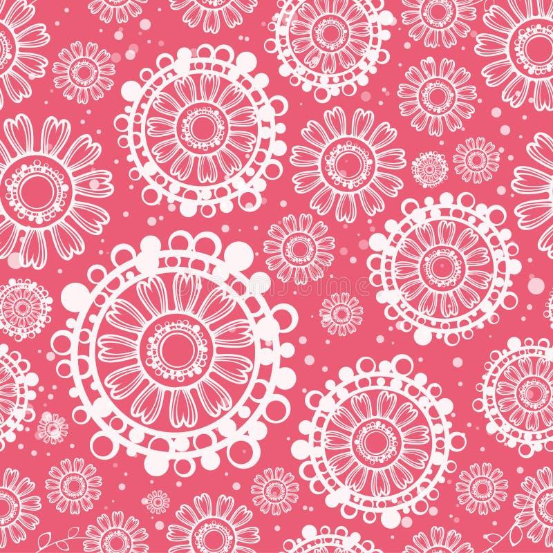 blommar seamless litet för beskärning vektor illustrationer